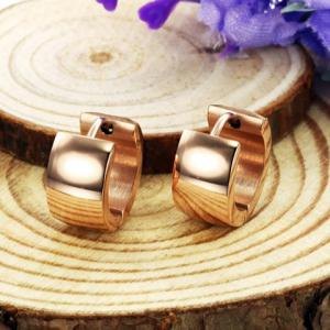 Pair of Fashion Circle Smooth Earrings For Women - COLORMIX