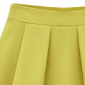 Stylish Solid Color Pleated Culotte For Women -