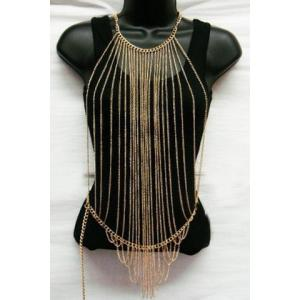Characteristic Multi-Layered Tassels Full Body Armor Jewelry Chain For Women
