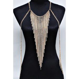 Multilayered Tassels Belly Body Chain
