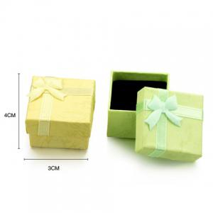 ONE PIECE Cute Ribbon Bowknot Square Jewelry Box For Women -