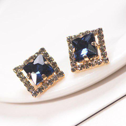 Pair of Cute Rhinestone Inlaid Square Shape Earrings For Women от Rosegal.com INT