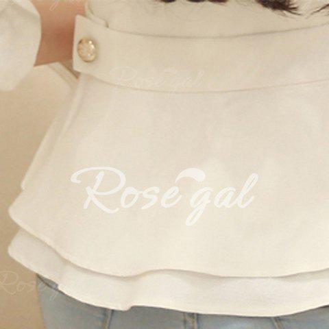 Stylish Collarless Long Sleeve Solid Color Ruffled Blazer For Women от Rosegal.com INT