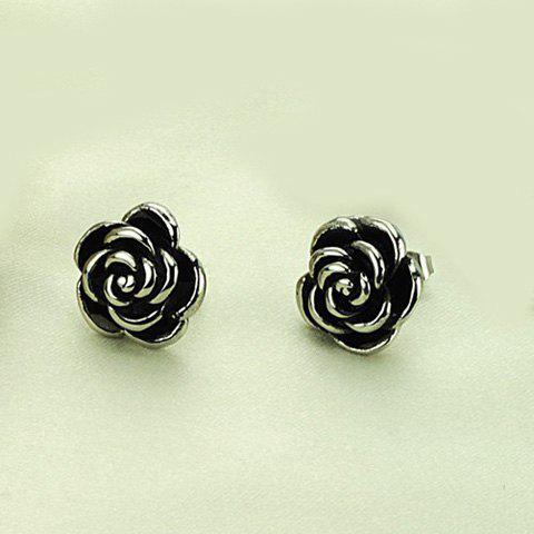 Pair of Chic Flower Black Earrings For Women от Rosegal.com INT