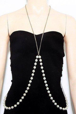 Shop Stylish Solid Color Beads Body Chain For Women