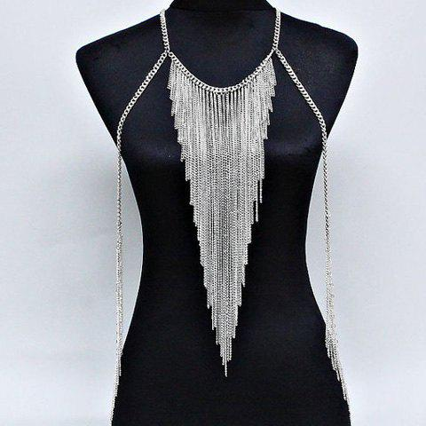Store Link Tassel Layered Triangle Body Chain