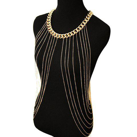 Best Chic Link Tassel Layered Round Body Chain For Women - GOLDEN  Mobile