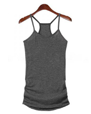 Outfit Stylish Scoop Neck Criss-Cross Backless T-Shirt Twinset For Women - ONE SIZE AS THE PICTURE Mobile