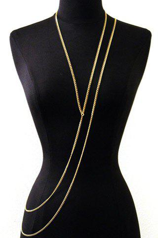Trendy Trendy Layered Gold Link Women's Body Chain