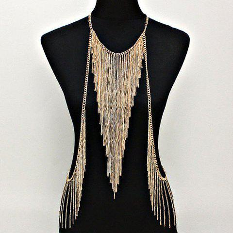 Buy Chic Triangle Tassel Gold Women's Body Chain