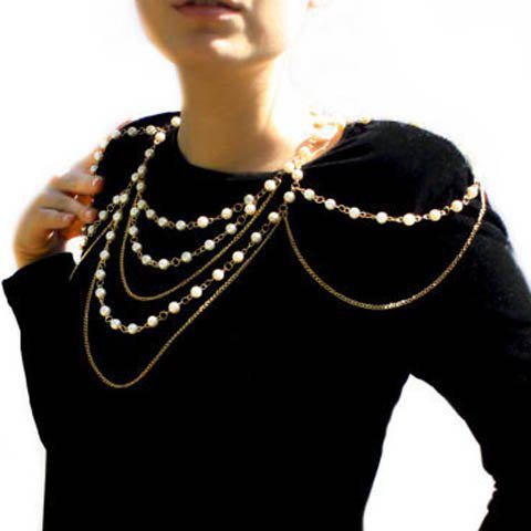 Best Stylish Faux Pearl Embellished Layered Women's Body Chain