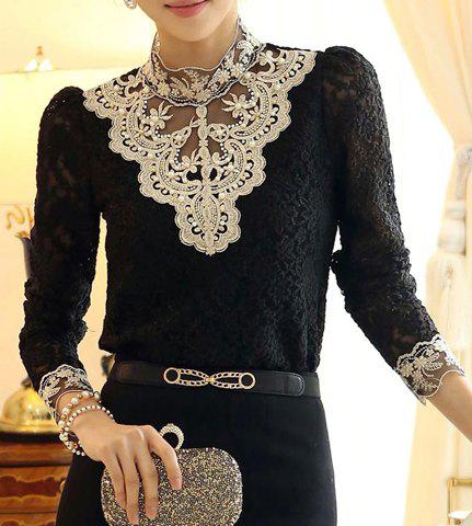 Rhinestones Embellished Pullover Blouse $17.65 AT vintagedancer.com