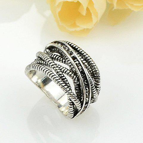 Online Retro Style Multilayered Ring