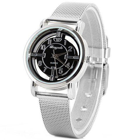 Latest Chaoyada Quartz Watch with Arabic Numbers and Strips Indicate Steel Watch Band for Women