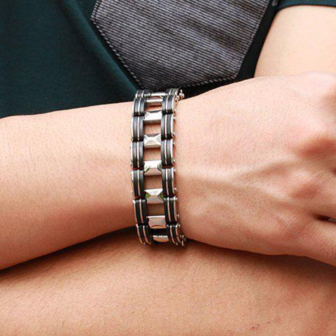 Store Titanium Steel Bicycle Chain Bracelet - AS THE PICTURE  Mobile