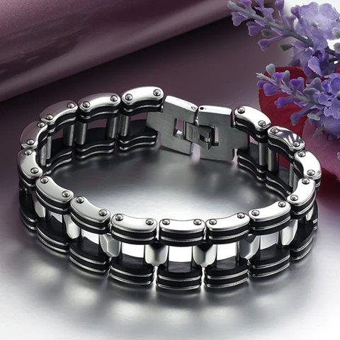 Latest Titanium Steel Bicycle Chain Bracelet - AS THE PICTURE  Mobile