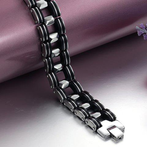 Affordable Titanium Steel Bicycle Chain Bracelet - AS THE PICTURE  Mobile