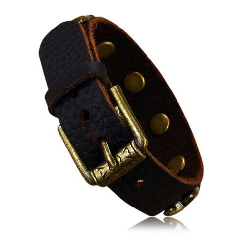 Outfits Punk Letter X Print Faux Leather Bracelet - AS THE PICTURE  Mobile