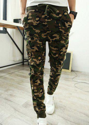 2018 Camouflage Style Lace Up Slimming Elastic Cuffs