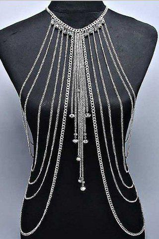 Discount Stylish Solid Color Symmetry Multi-Layered Pendant Decorated  Women's Body Chain