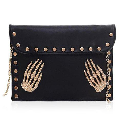 Cheap Punk Rivets and Chain Design Women's Shoulder Bag