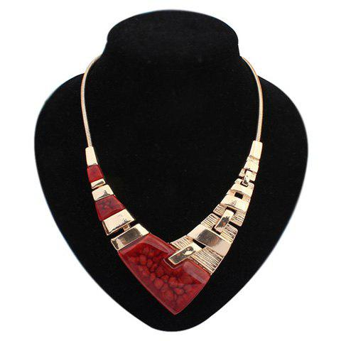 Chic Punk Irregular V Pendant Necklace For Women