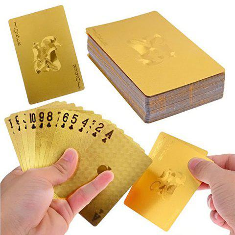 Best Luxury 24K Gold Foil Poker Playing Cards Deck Carta de Baralho with Box Good Gift