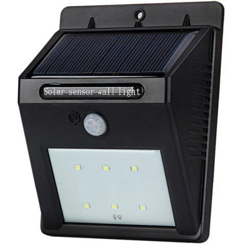 Outfit White Light Solar Motion Sensor Wall Lamp Solar Power LED Infrared Induction Lamp for Home Office -   Mobile