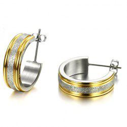 Pair of Alloy Circle Dull Polished Earrings -