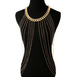 Chic Link Tassel Layered Round Body Chain For Women -