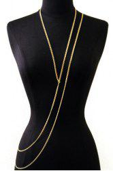 Trendy Layered Gold Link Women's Body Chain -