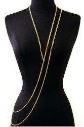 Stylish Special Design Layered Y-Shaped Women's Body Chain -