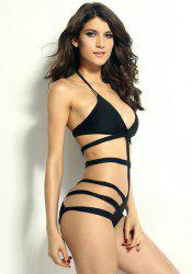 Sexy Halterneck Hollow Out One-Piece Swimwear For Women -