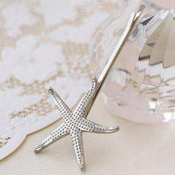 Sweet Women's Solid Color Starfish Hairpin -