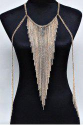 Multilayered Tassels Belly Body Chain -