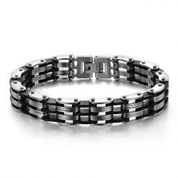 Titanium Layered Cycle Chain Bracelet