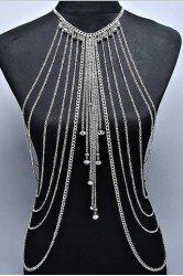 Stylish Solid Color Symmetry Multi-Layered Pendant Decorated  Women's Body Chain -