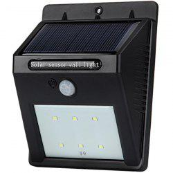 White Light Solar Motion Sensor Wall Lamp Solar Power LED Infrared Induction Lamp for Home Office