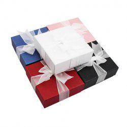 ONE PIECE Cute Square Jewelry Box With Ribbon For Women