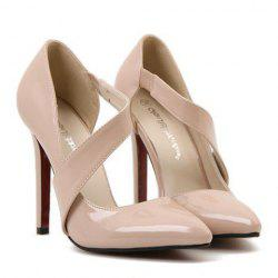 Sexy Hollow Out and Pointed Toe Design Women's Pumps -