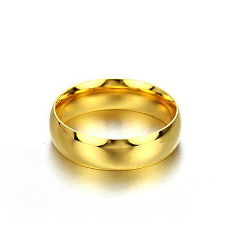 1 Pcs Smooth Gold Lover Couple RingJEWELRY<br><br>Size: ONE SIZE; Color: MALE; Gender: For Men; Metal Type: Titanium; Style: Trendy; Shape/Pattern: Round; Metal Color: Titanium Plated; Diameter: 19MM; Weight: 0.060kg; Package Contents: 1 x Ring;