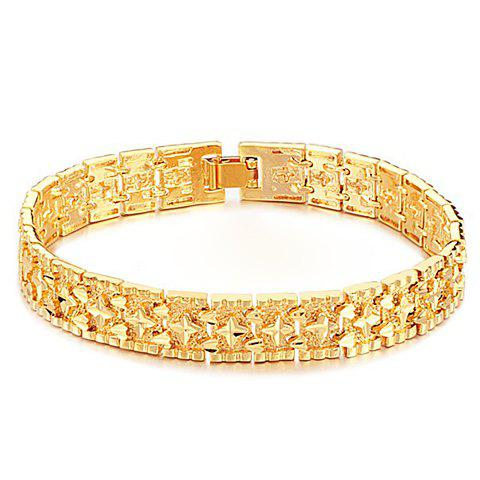 Image For Fashion Gold Circle Bracelet For Men
