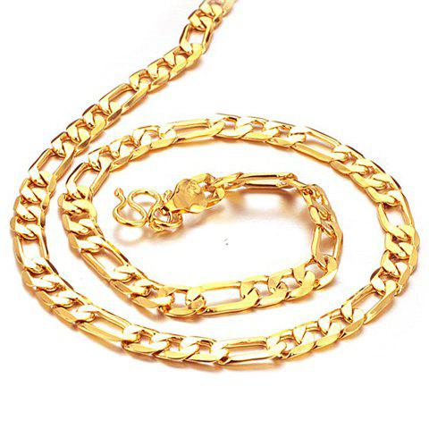 Image For Chic Link Gold Necklace For Men