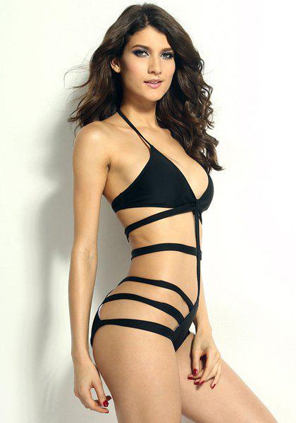Latest Sexy Halterneck Hollow Out One-Piece Swimwear For Women