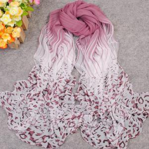 New Gradient Color Irregular Print Anti-UV Scarf For Women