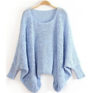 Dolman Sleeve Loose-Fitting Sweater