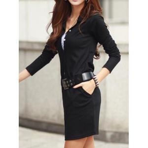 Long Sleeve Office Dress -