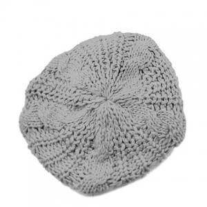 Acrylic Crochet Beret Hat - COLOR ASSORTED