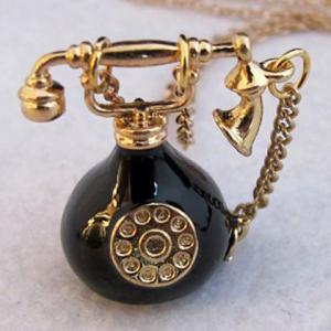 Telephone Shape Pendant Sweater Chain -
