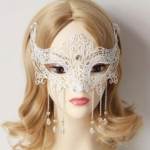 Hot Stylish Women's Openwork Lace Beads Pendant Mask